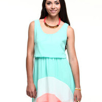 DJPremium.com - Women - Shop by Brand - New - Sunny Chiffon Dress w/color blocking