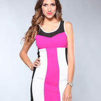 DJPremium.com - Women - Shop by Department - Dresses - Bright - Split Panel Dress