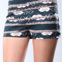 DJPremium.com - Women - Shop by Brand - DJP OUTLET - Shorts - Reeza Morrocan Printed Short