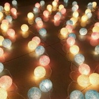 Amazon.com: Candy Mixed Set 35 of Cotton Balls String Lights Patio Wedding and Home Decorate By I Love Handicraft (35 Balls/set): Patio, Lawn & Garden