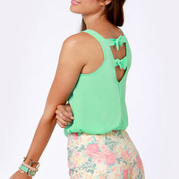 Saturday Cookout Mint Green Tank Top