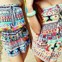 Multi-Geo Print Romper