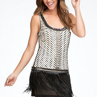 Fringe Hem Dress