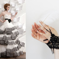 Wedding Gloves, Black lace gloves, Fingerless Gloves, bride, bridal gloves, Bridal accessories, gothic gloves, Victorian gloves