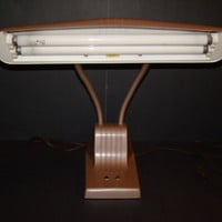 Vintage desk lamp - Dazor Model 1000 fluorescent desk lamp - 1950's
