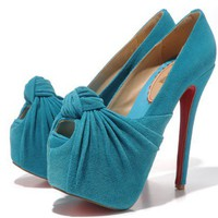 Hot sell cheap New bow fish head shoes_High shoes_Fashion shoes_Mili fashion Trade Co.Ltd