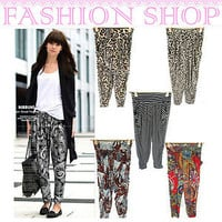 NEW Womens Shorts Hippie Leisure Baggy Print Trousers Ladies Yoga Harem Pants