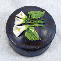 Ceramic Calla Lily Keepsake Box