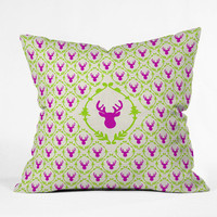 DENY Designs Home Accessories | Bianca Green Oh Deer 2 Outdoor Throw Pillow