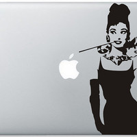 Audrey Lady mac decal mac book mac book pro mac by eunicesslshop