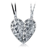 Broken Piece Keep Half Heart Magnetic Connecting Couple Necklaces Set Personalized Couples Jewelry | Occasions Uncommon Gifts | Unique Phone Cases | Worldwide Shipping
