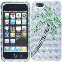 Amazon.com: Palm Tree Silver Bling Rhinestone Crystal Case Cover Diamond Faceplate For Apple iPhone 5: Cell Phones & Accessories