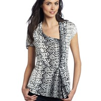 Kenneth Cole Women's Python Print Tunic Knit Top