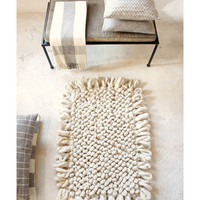 P A L O M I T A   hand-loomed wool boucl area rug in  C R E A M