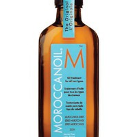 Used and New: Moroccan Oil Hair Treatment 3.4 Oz Bottle with Blue Box