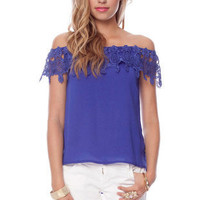Kingsley Top in Royal Blue :: tobi