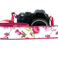 Floral dSLR Camera Strap.Roses Camera Strap. Women accessories