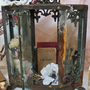 Ornate display case distressed rusted observation metal French provincial home decor Anita Spero
