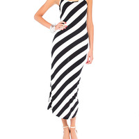 Saw Striped Maxi Tank Dress - 2020AVE