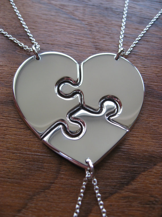 stainless steel puzzle friendship necklaces images