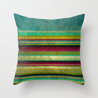 Brighton Rock Throw Pillow by Sharon Turner