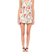 Geometric Watercolored Romper - 2020AVE