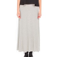 Thin Stripes Fold Over Maxi Skirt - 2020AVE