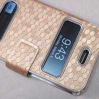 Luxurious Synthetic Leather Magnetic Flip Case Cover