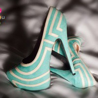 Bumper Elle-05 Sea Green Pointy Toe Platform Pump - Shoes 4 U Las Vegas