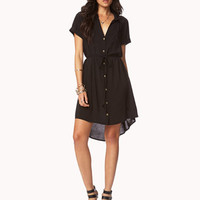 Woven Shirt Dress w/ Braided Belt