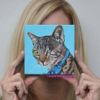 Pet Portrait Cat painting Cat art Modern pet portrait  Pet art Custom cat portrait Original cat painting Painting of cats