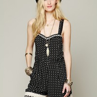 Free People Crochet Dot Romper