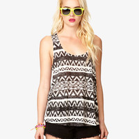 Tribal-Inspired Burnout Tank