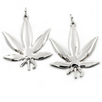 ROIAL Plant Earrings Silver