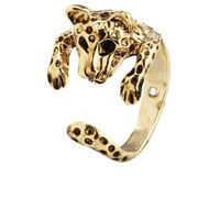 Lovely Leopard Metallic Ring: Charlotte Russe