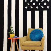 American Flag Tapestry- Black & White One