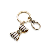 BENDEL BOW STRIPE KEY FOB