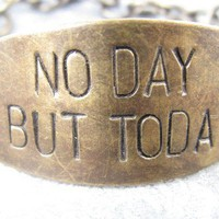 No Day But Today Hand Stamped Brass Bracelet by CobwebCorner