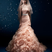Full Romantic Flower Wedding dress
