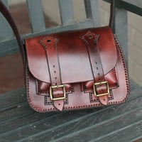 Brown Leather Purse by RCSmithLeatherworks on Etsy