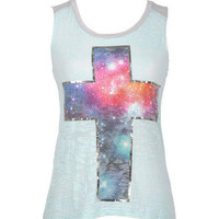 Foil Galactic Cross Tee