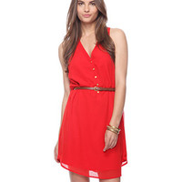 Belted Racerback Dress