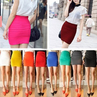 SakuraShop  Candy Colored Mini Skirt