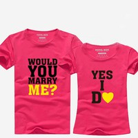 Hot Summer T-shirt for Couple