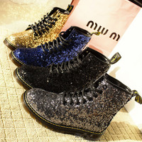 Sequined Dr Martens boots