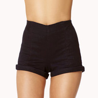 High-Waisted Cuffed Shorts | FOREVER 21 - 2050719570