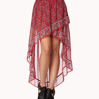 Flounced High-Low Bandana Skirt | FOREVER 21 - 2041299104