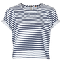 MOTO Stripe Denim T Shirt - Denim Shirts &amp; Bralets - Denim - Clothing - Topshop USA