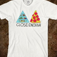 Pizza Pyramid (Close Enough) - Rad Fortress - Skreened T-shirts, Organic Shirts, Hoodies, Kids Tees, Baby One-Pieces and Tote Bags