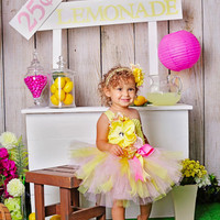 Lemonade Tutu, Lemonade Birthday, Pink Lemonade, Lemonade Party, Outfit of Choice, Yellow Tutu Dress, Pink Tutu Dress, Crochet Tutu Dress